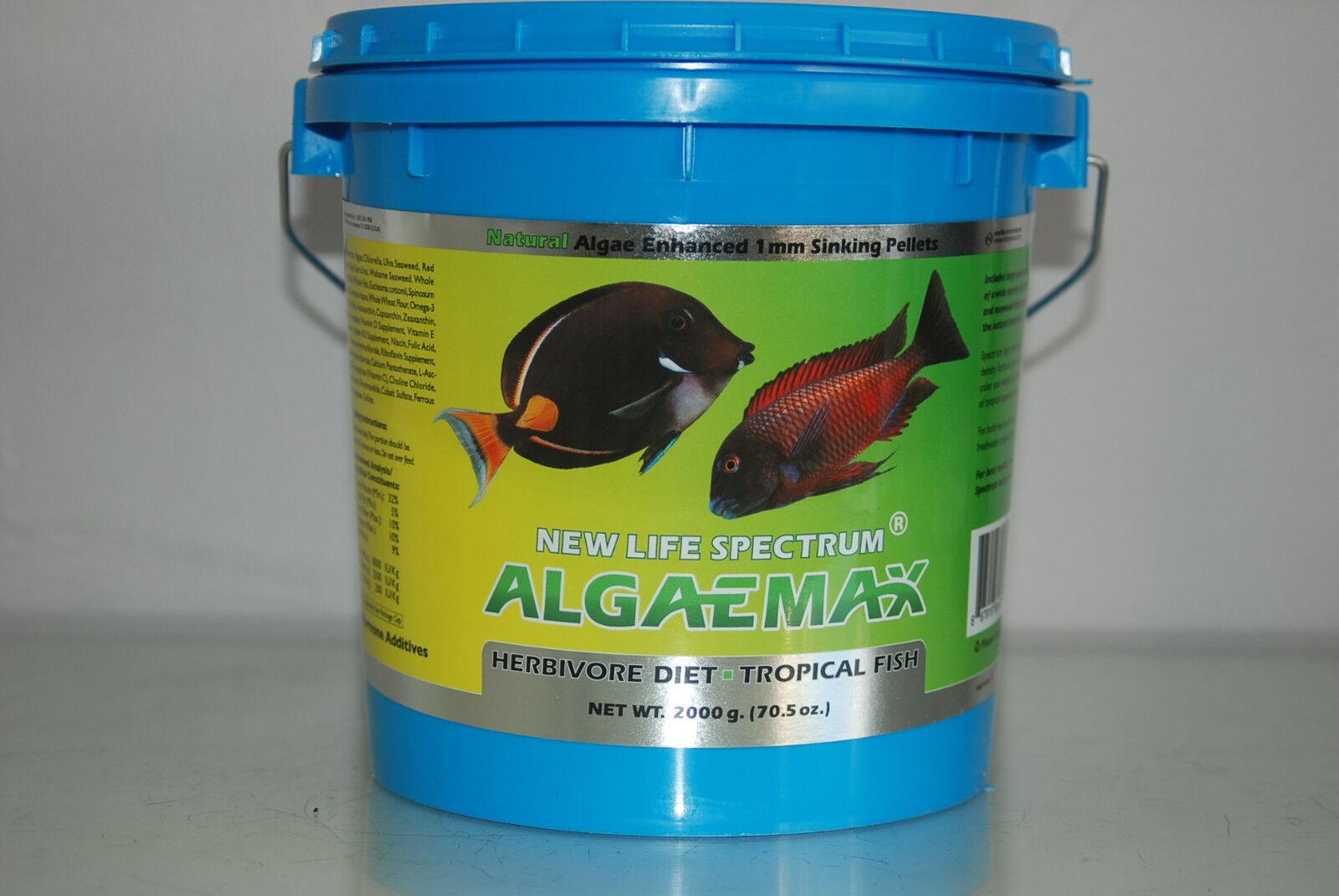 NEW Life Spectrum alghe Max PELLET 2mm migliorando la vasca 2000g PELLET PER TUTTI I PESCI