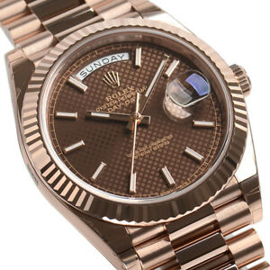 Rolex-Day-Date-228235-President-40mm-Everose-Gold-Chocolate-Motif-Dial-Watch