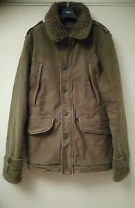Abercrombie-amp-Fitch-B-9-Sherpa-military-jacket-size-L-cost-over-200-new