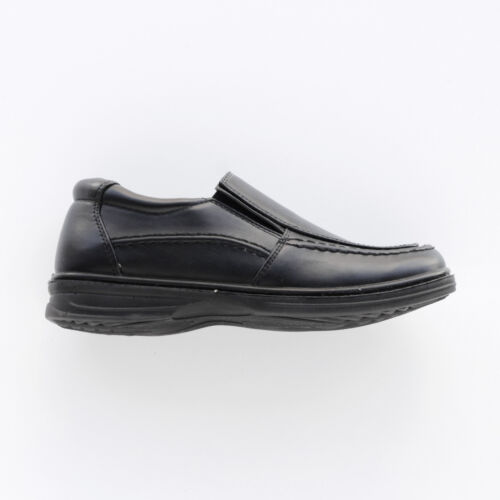 BOYS BLACK SLIP ON SHOES BY SPIRIT SIZES 2-6