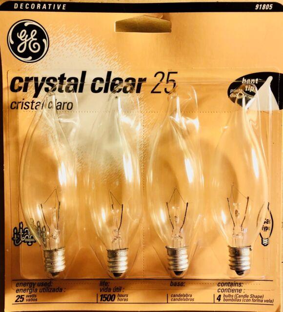 25 Watt Decorative Candelabra Bulbs