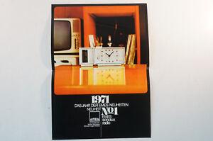 Emes Sonolux Radio Katalog Uhr 70er Jahre Deutsch Radiowecker Prospekt B4989 Ausreichende Versorgung
