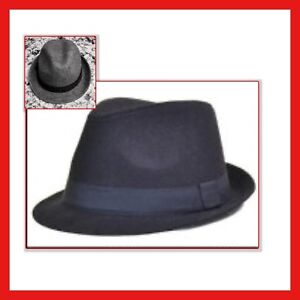 Image is loading FEDORA-HAT-From-GAP-Gray-or-Navy-Wool- 11cb814f51d