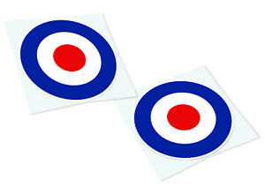 RAF TARGET Classic Mods Retro Car Motorcycle Decals Stickers