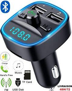 Transmetteur-FM-sans-fil-Bluetooth-5-0-Adaptateur-MP3-Kit-voiture-Chargeur-USB