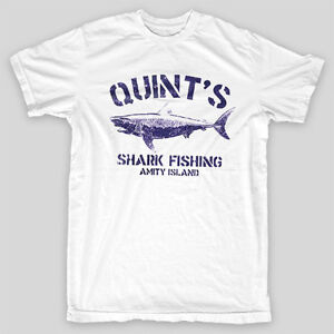 QUINT/'S SHARK FISHING Jaws Amity Island Brody Orca Spielberg LONGSLEEVE T-SHIRT
