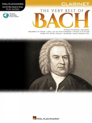 The Very Best of Bach Instrumental Play-Along for Clarinet NEW 000225372