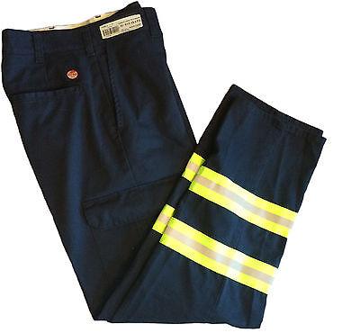 New Red Kap Reflective Pants Hi Vis Safety Towing Navy Work Uniform PC20NV