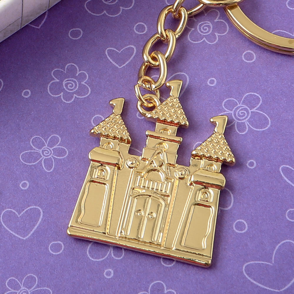 36-144 Gold Castle Key Chain - Fairy Tale Themed Themed Themed Wedding Shower Party Favors 705e20