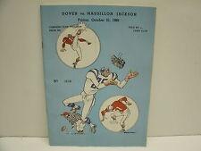 Vintage 1966  Dover vs. MASSILLON JACKSON  HS FOOTBALL PROGRAM   OHIO