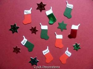 Christmas Fireplace Personalised Stocking Die Cuts Ebay