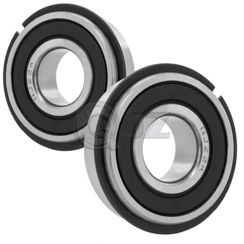 2x 88505NR Bearing 25mm 52 mm 16.8mm w// Snap Ring Agricultural Type New