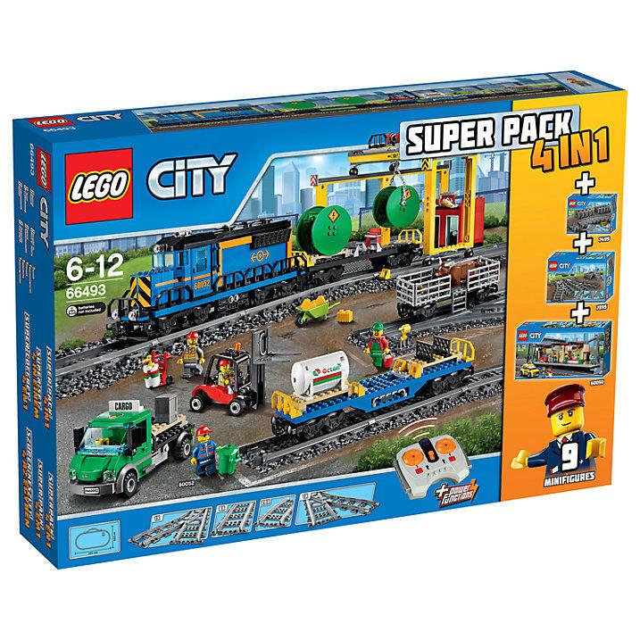 LEGO CITY 66493 4 nel 1  60050,60052,7499,7895  telecomando Treno Cargo, Depot