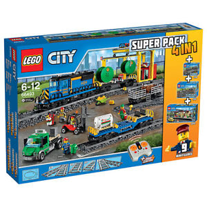 Image is loading LEGO-City-66493-4-in-1-60050-60052-