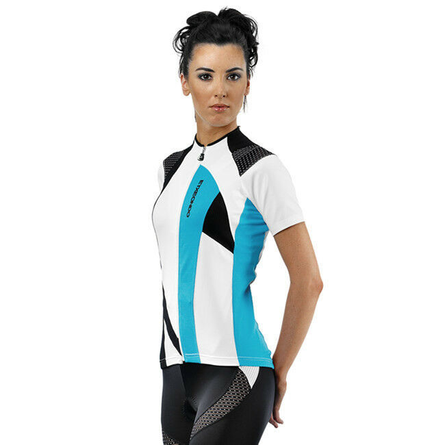 ETXEONDO Kaxu Women's CYCLING short sleeve Jersey in White bluee (made in Spain)