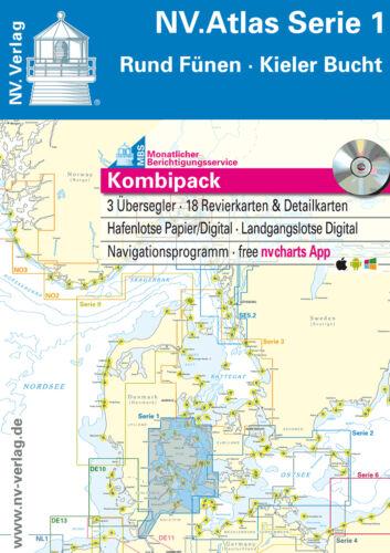 2019 Seekarten NV-Verlag Ostsee Kombipack aktuelle Sätze und Koffer zur Auswahl