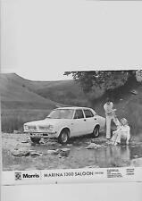 "BRITISH LEYLAND MORRIS MARINA 1300 SALOON DELUXE  PRESS PHOTO""brochure related"""