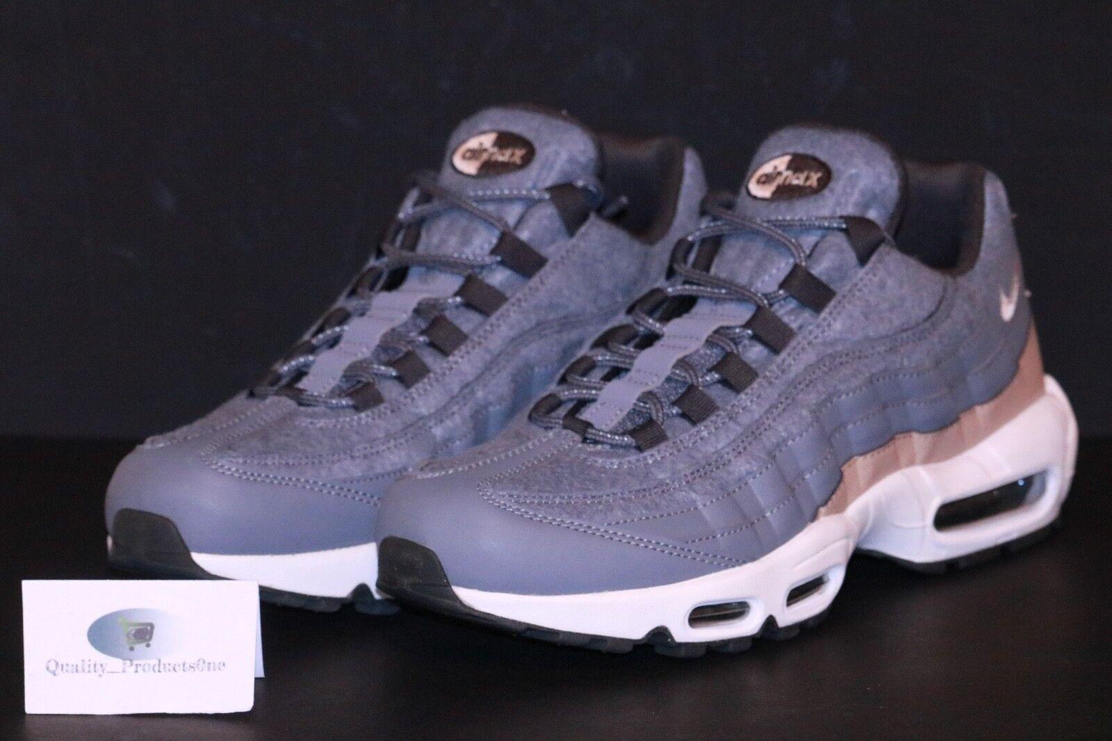 76dba7917a84 Nike Men s Air Max 95 Premium Cool Grey mushroom Deep Pewter Running ...