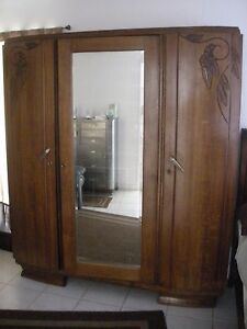 Vintage French Armoire Nice Condition 1930s Deco Ebay