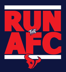 new product 4d1e1 0ccb7 Details about Houston Texans RUN the AFC shirt NFL Playoffs Watson Hopkins  JJ Watt H-Town