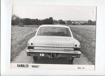 N°4267 RAMBLER american motors Renault photo argentique d/'epoque