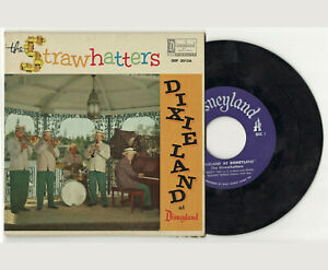 Disney-Vintage-Vinyl-Record-The-Strawhatters-Dixieland-at-Disneyland-1957