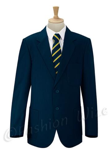 Free P/&P Boys School Blazer Jacket Uniform Black Bottle Green Maroon Navy