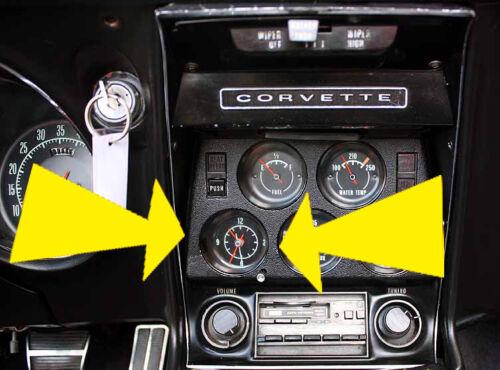 1977 1978 1979 1980 1981 Corvette QUARTZ CLOCK for Dash NEW Battery Powered