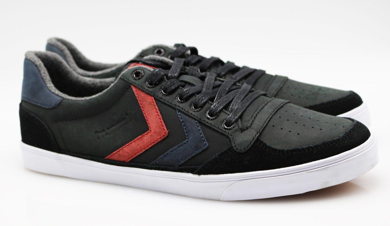 Hummel Slimmer Stadil Stadil Stadil Low Leder Sneaker Zapatos H17/177 oiled Negro 41 (42) be1c00