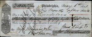 1851 Philadelphia Pennsylvania (PA) Contract Myers Manning and Lee Ja Rowland