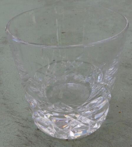 "Elegant CUT Glass Crystal Shot Glass Polished Base Bevels and Buttons 1-7//8/"""