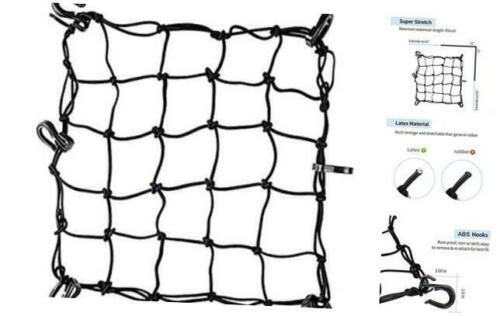 """Stretches to Super Strong Stretch Heavy-Duty 15/"""" Cargo Net for Motorcycle ATV"""