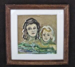 """Picture Frames Decorative Arts Vintage Miniature Wood Dollhouse Picture Frame Painted Water Color 3 1/4"""" W Jade White"""