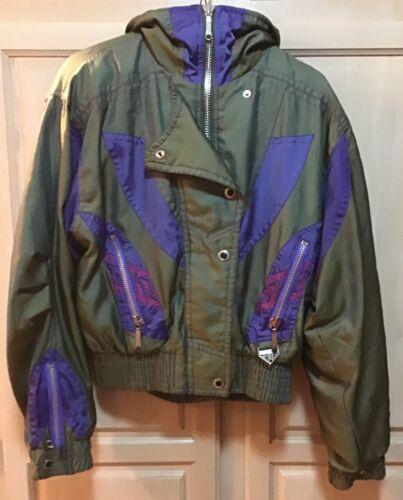 Jacket størrelse Grøn Snyder Vintage 8 80s Thinsulate 90's og Ski Kvinder Lilla 1ZfqxwBEq