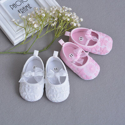 Newborn Baby Christening Gown Infant Lace Baptism Shoes Floral girls party