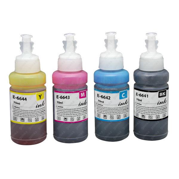 1 Go Inks Set of 4 Ink Bottles for Epson ECOTANK Et-4500 L355 L555