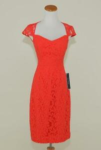 f5c030fc4d17 J.CREW $228 TINSLEY DRESS IN LEAVERS LACE 00 POPPY RED BRIDESMAID ...