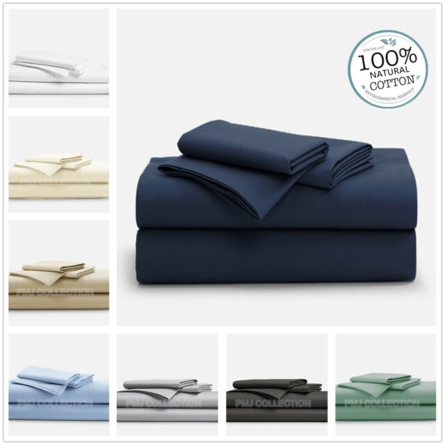 1000TC100%Egyptian cotton 4piece fitted flat sheet set in King Queen Double size