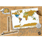 Personalized Travel Vacation Scratch off World Map Poster Personal Log Gift