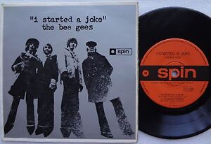BEE-GEES-I-Started-A-Joke-RARE-Ep-SPIN-AUSTRALIA-PIcture-Sleeve-BARRY-GIBB-the