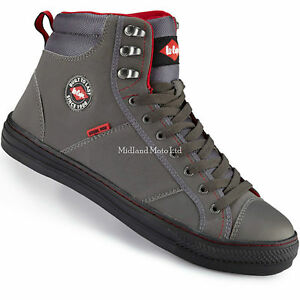 Lee Cooper Steel Toe Cap Grey Baseball Style Safety Boots. Trainers ... 269080c74