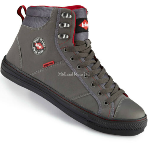 Lee Cooper Ladies Steel Toe Cap Grey Baseball Style Safety Boots Shoes Sneakers