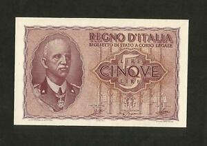 NC-REGNO-d-039-ITALIA-5-lire-034-Impero-034-Vittorio-Emanuele-III-Decr-1944