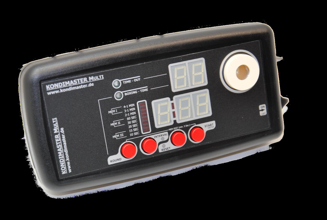 KondiMaster MULTI, Intervall Timer mit Display und frei programmierbaren Zeiten.