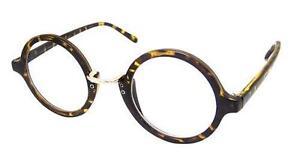 c3c6afff572 Tortoieshell Tall Round Thin Frame Men Women Clear Lens Glasses VTG ...