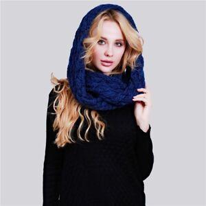 bf60594f4a72 écharpe tour de cou chaud tricotée pas cher mode femme bleu gris ...