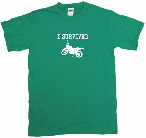 I Survived Dirt Bike Motorcycle Kids Tee Shirt Pick Size /& Color 2T XL