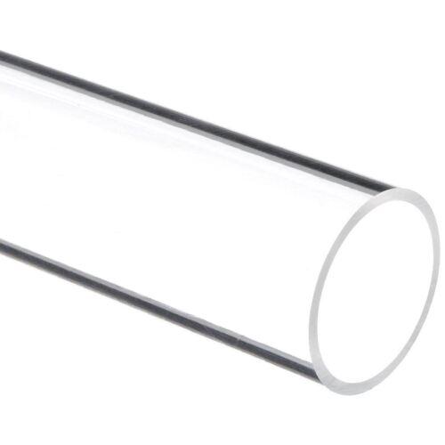 "Clear Nominal 72/"" Acrylic Round Tube - 2/"" ID x 2-1//4/"" OD x 1//8/"" Wall"