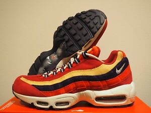 Details about Nike Air Max 95 Premium Red Blue Yellow Shoes Size 8.5 538416 603