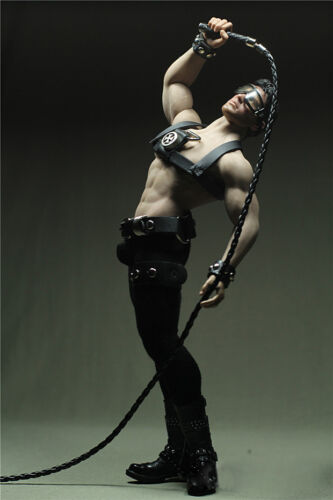 """Custom DIY 1//6th Black Leather Whip For 12/"""" Phicen Toy Male /& Female Figure Body"""